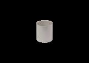 Manchon F/F PVC gris 80