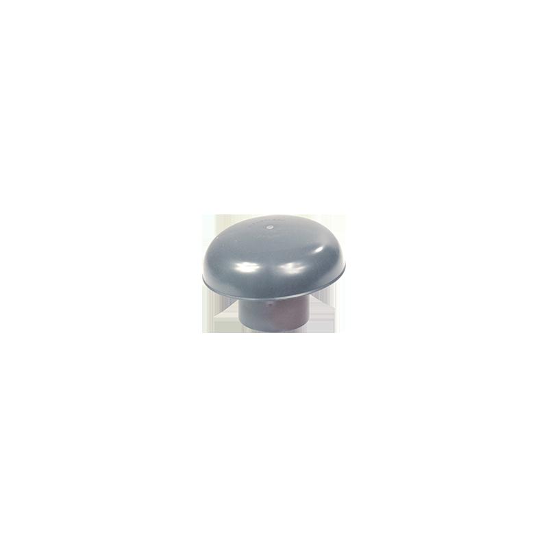 Chapeau de ventillation PVC gris 80