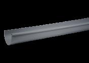 Gouttière PVC Gris demi-ronde dev 33 - 2 mètres