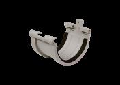 Jonction gouttière PVC gris à joint 33