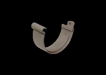 Jonction gouttière PVC gris à coller 33