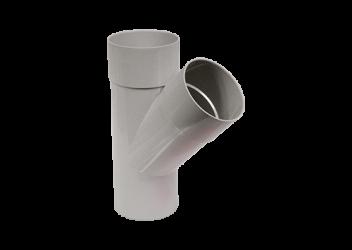 Culotte 45° M/F PVC gris 100