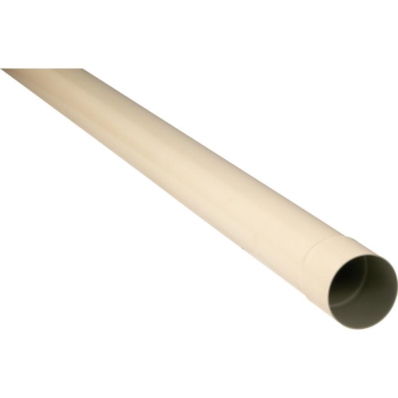 Tuyau de descente PVC sable 80 - 2 mètres