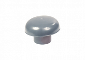 Chapeau de ventilation PVC gris 100
