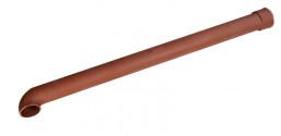 Dauphin fonte coudé rouge 100 mm - 1 mètre