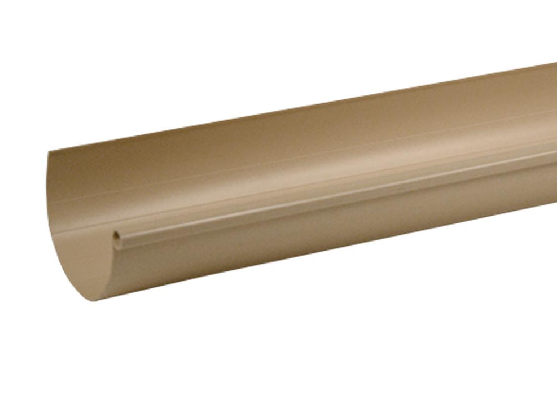 Gouttière PVC Sable demi-ronde dev 25 - 2 mètres