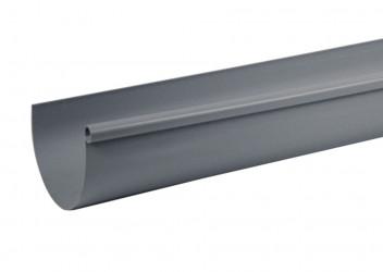 Gouttière demi-ronde PVC gris 33 - 2 mètres