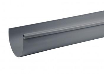 Gouttière demi-ronde PVC gris 33 - 4 mètres