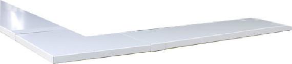Angle couvertine aluminium 1 mm blanc 9010 à 90°