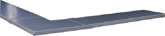 Angle couvertine aluminium 1 mm gris ardoise 7016 à 90°