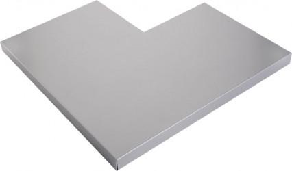 Angle couvertine aluminium 1 mm gris métal 9006 à 90°