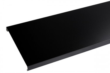 Couvertine aluminium 1 mm noir 9005 - 2 mètres