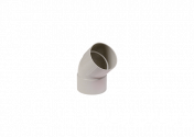 Coude 67° F/F PVC gris 80