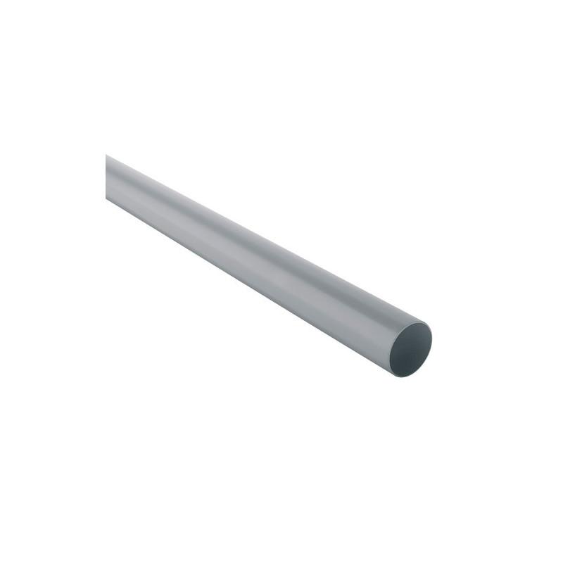 Tuyau de descente PVC gris 80 - 4 mètres