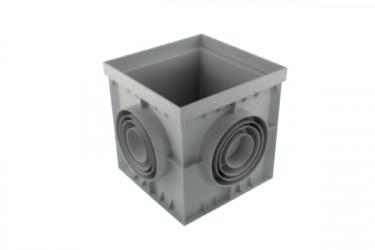 Regard carré Polypropylène gris