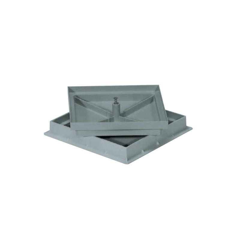 Tampon de coffrage PVC gris 300 X 300