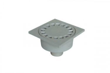 Siphon de cour sortie extérieure gris D 100