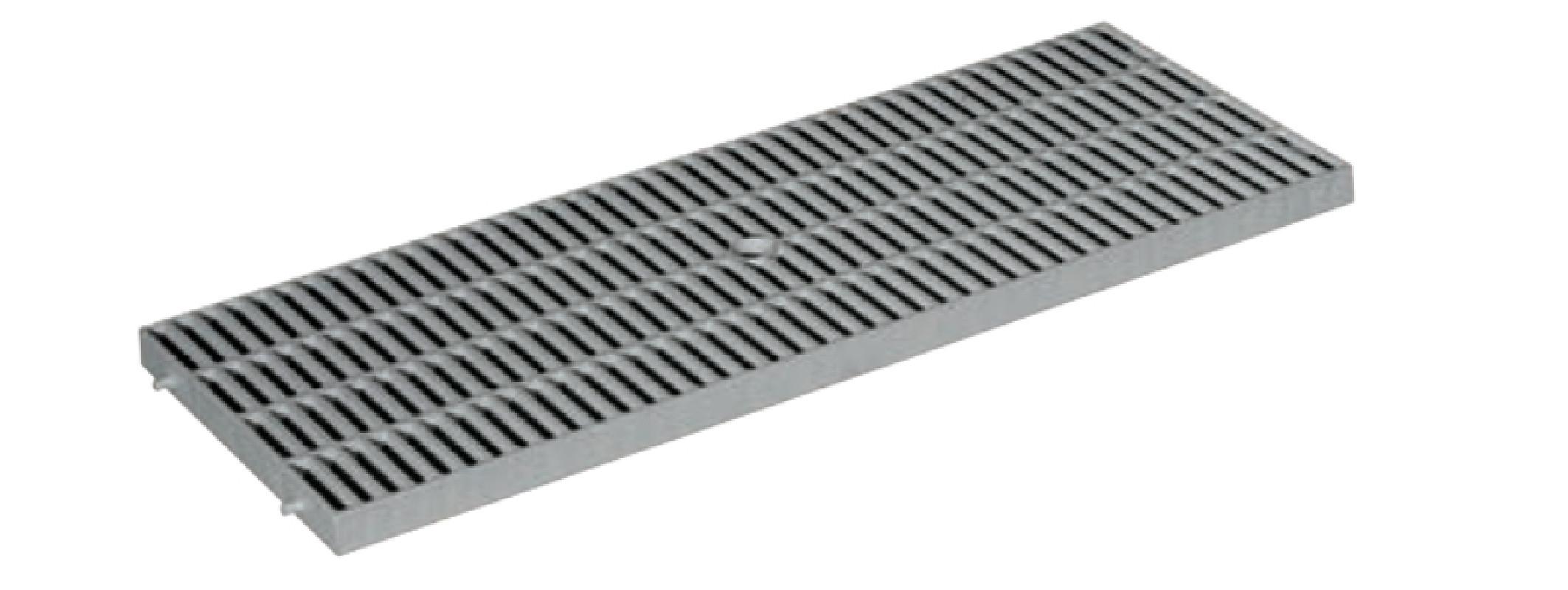 caniveau grille polypropyl ne gris brico toiture. Black Bedroom Furniture Sets. Home Design Ideas