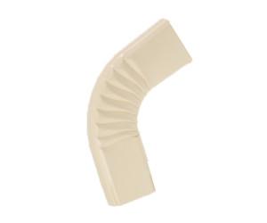 Coude frontal (B)  extérieur aluminium lisse sable