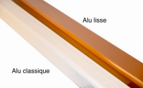 Coude frontal (A) intérieur aluminium LISSE  miel 60X80