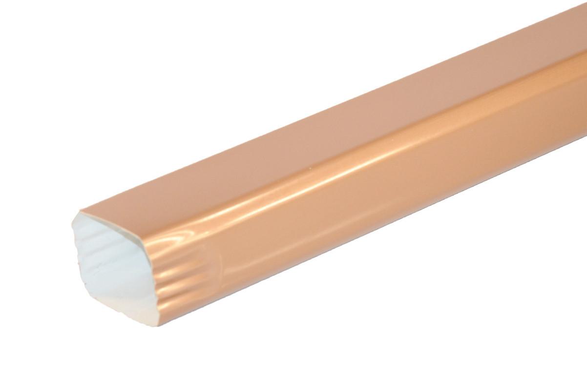 Tuyau de descente Rectangulaire aluminium LISSE miel 60X80 - 2 mètres