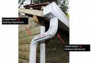 Coude latéral (A) intérieur aluminium LISSE Gris ardoise 60X80