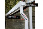 Coude latéral (B)  extérieur aluminium LISSE Gris ardoise 60X80