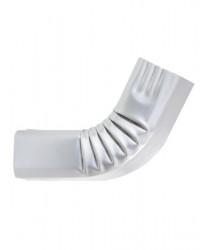 Coude frontal (A) intérieur aluminium LISSE gris métal
