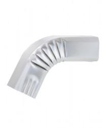 Coude frontal (B)  extérieur aluminium LISSE gris métal 60X80