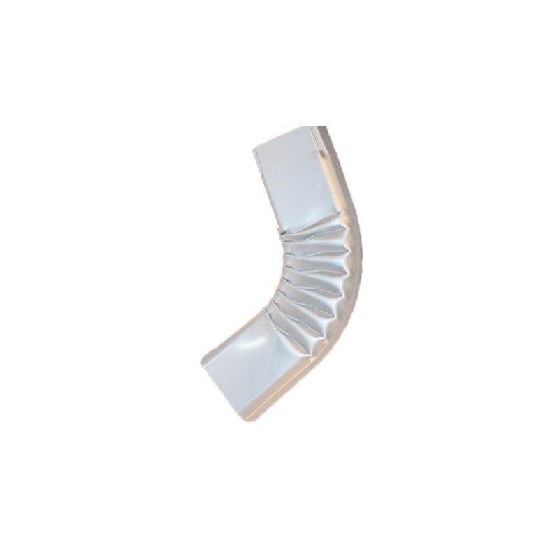 Coude latéral (A) intérieur aluminium LISSE gris métal 60X80