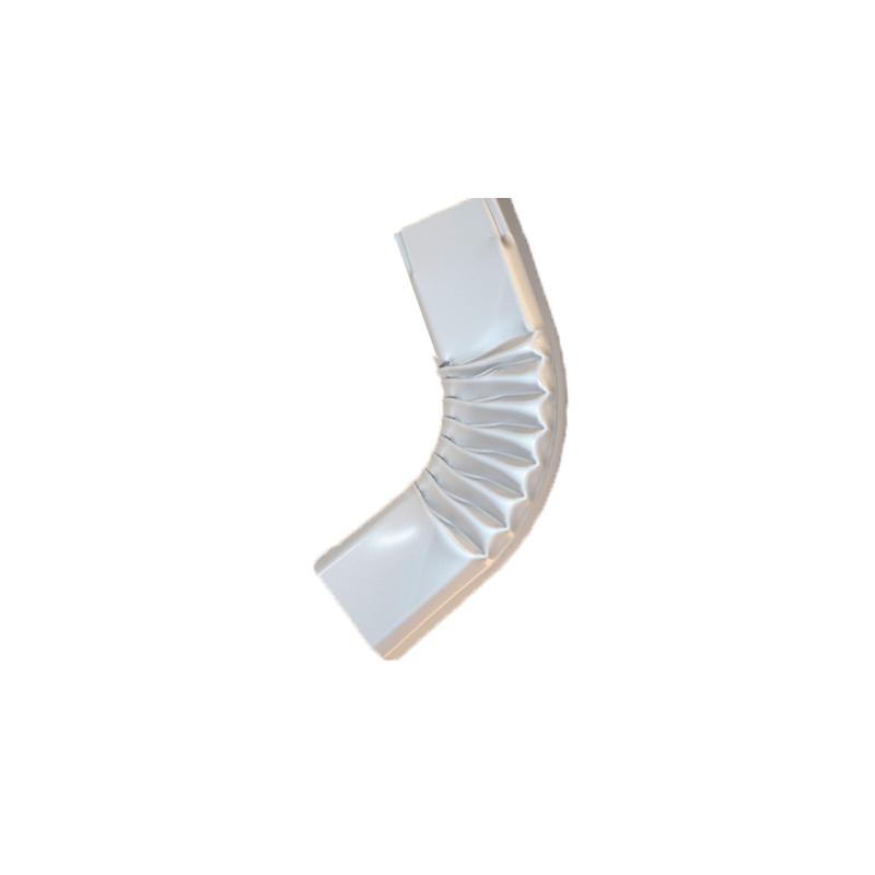 Coude latéral (A) intérieur aluminium LISSE gris métal