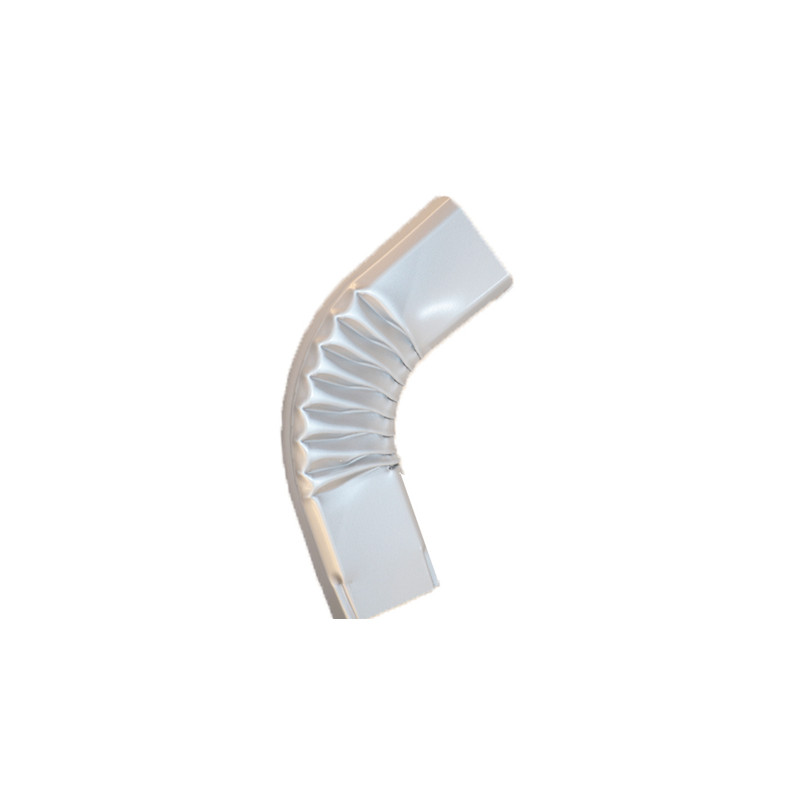Coude latéral (B) extérieur aluminium LISSE gris métal 60X80
