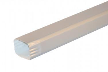 Tuyau de descente Rectangulaire aluminium LISSE gris métal - 2 mètres