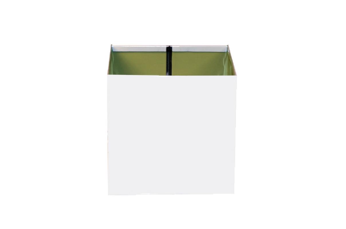 Boîte à eau Aluminium blanc 9010 200 X 200  sortie rectangulaire 60 X 80