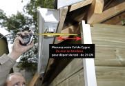 Col de cygne aluminium LISSE Blanc 60X80