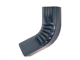 Coude frontal (A)  intérieur aluminium LISSE  Gris ardoise 60X80