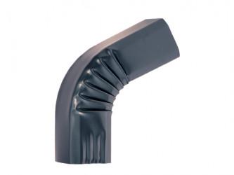 Coude frontal (B)  extérieur aluminium LISSE Gris ardoise 60X80