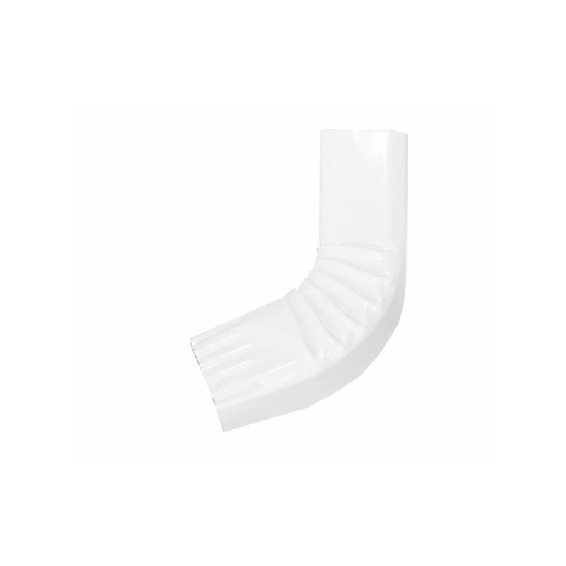 Coude frontal (A)  intérieur aluminium LISSE Blanc 60X80