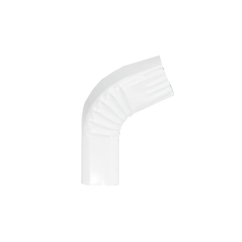 Coude frontal (B)  extérieur aluminium LISSE Blanc 60X80