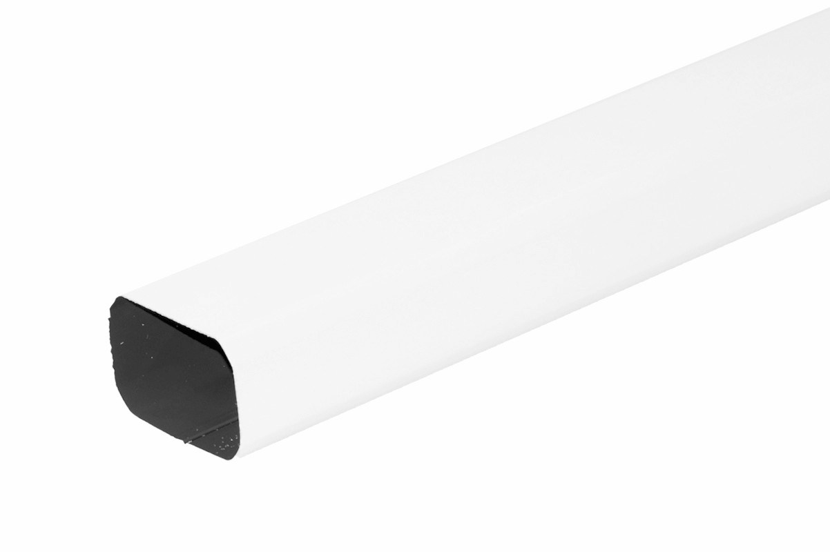 Tuyau de descente Rectangulaire aluminium LISSE blanc 60X80 - 2 mètres