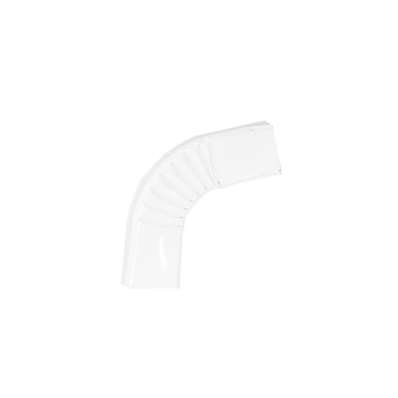 Coude latéral (A) intérieur aluminium LISSE blanc 60X80