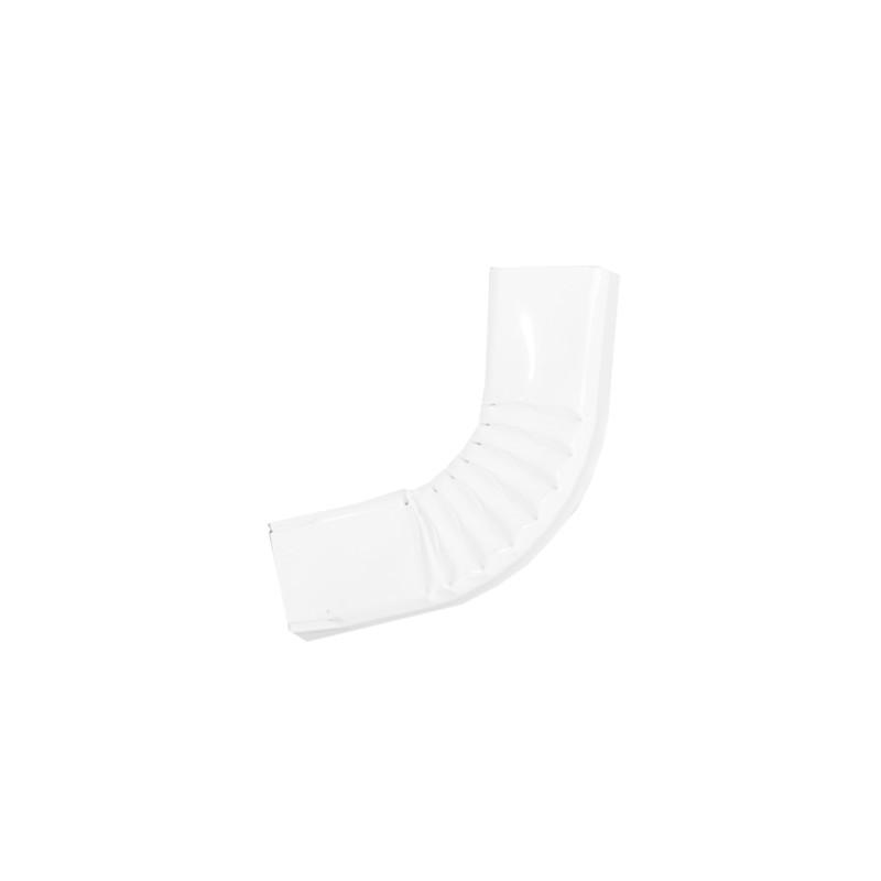 Coude latéral (B)  extérieur aluminium LISSE blanc