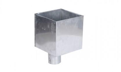 Boîte à eau zinc 300 X 300 sortie cylindrique 100