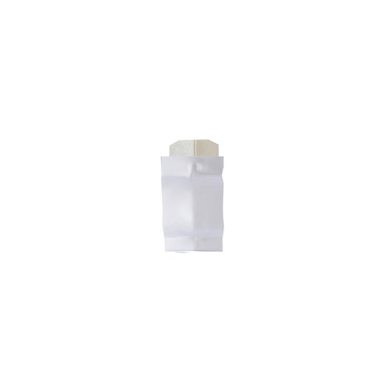 Angle intérieur 135 ° aluminium blanc