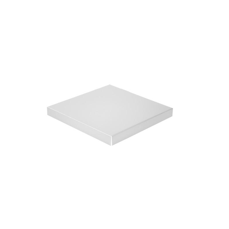 Chapeau Aluminium 1 mm gris métal 9006