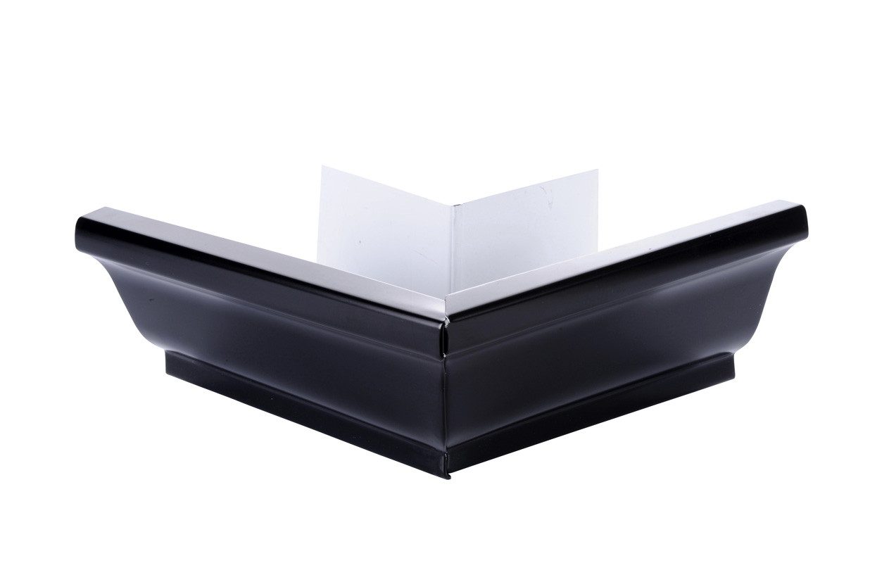 Angle extérieur 90° gouttière aluminium noir G300