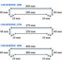 Couvertine aluminium 1 mm Noir RAL 9005 - 2 mètres