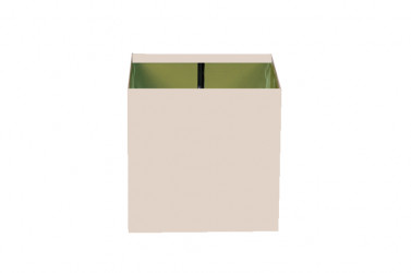 Boîte à eau Aluminium sable 9010 200 X 200  sortie rectangulaire 60 X 80