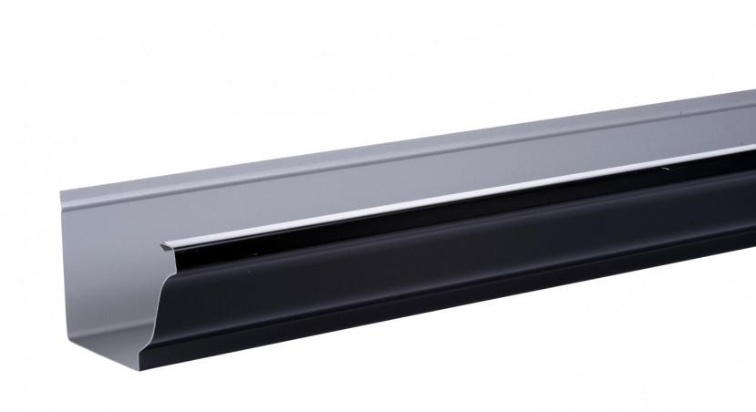 Gouttière aluminium noir  - 4 mètres