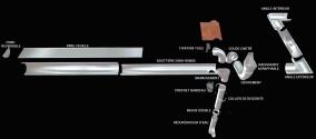 Gouttière acier galva demi-ronde  33 - 2 mètres